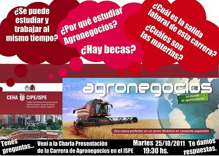 Charla Agronegocios 25/10/11